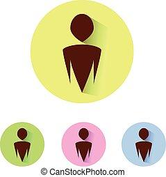 people symbols in circle vector ele