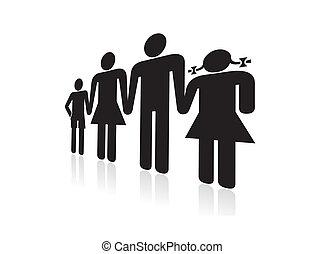 family holding
