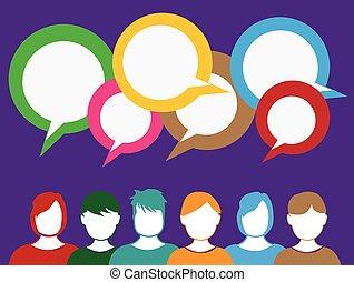 People talk background