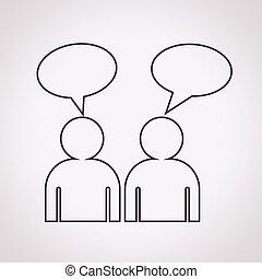 people talk icon
