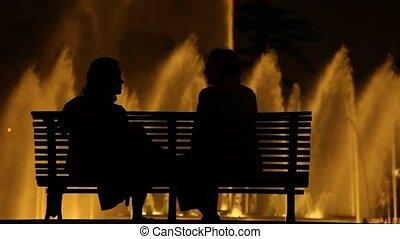 People talking at Night
