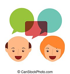 people talking design, vector illustration eps10 graphic