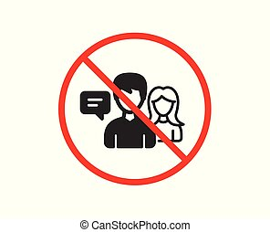 People talking icon. Conversation sign. Vector