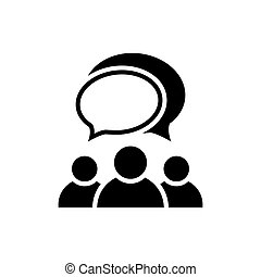 People talking icon. Group of people symbol