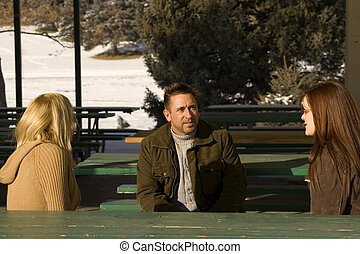 People Talking in the Park