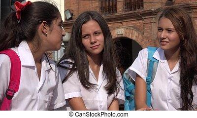 People Talking Teen Girls