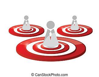 people target illustration design
