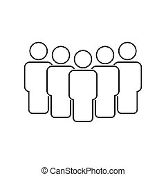 People team icon line style