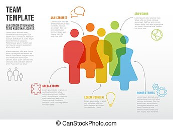 People team infographic template for company overview or ...