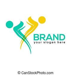 People Team Logo. flat design. Vector Illustration on white background