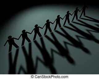 People team - Team of people symbol rendered in 3d
