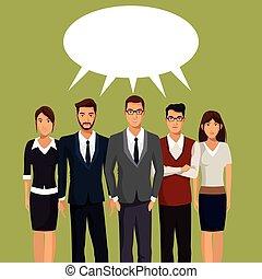 people team work communication talking vector illustration...