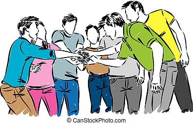 people team work concept vector illustration