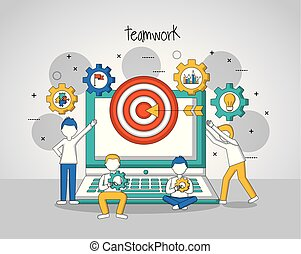 people teamwork concept