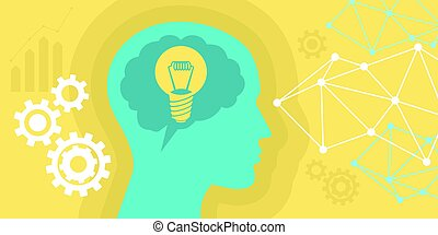 people thinking an idea with bulb illustration