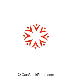 People together, business people sign, symbol, art isolated on white