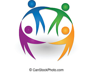 People together teamwork logo - People together teamwork...