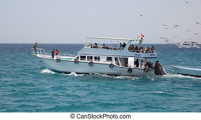 people travel by boat