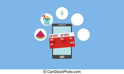 people travel time - air ticket smartphone travel vacations...