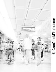 People traveling on the MRT, Thailand. - People traveling on...