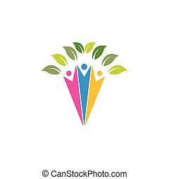 people Tree icon template vector