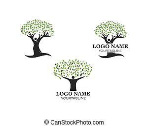 people tree logo vector