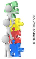 People Unite. - The dude x 3 building puzzle diversity tower...