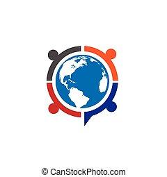 People unity logo - People unity, Colorful people around...
