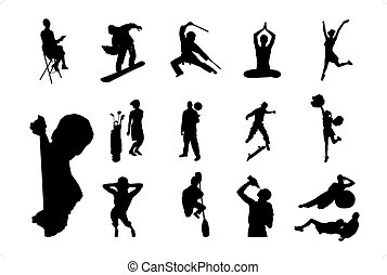 People Vector Silhouette - 05