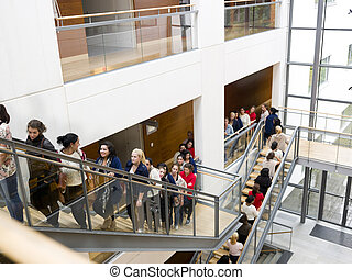 People waiting in line - Large group of people waiting in...