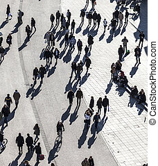 people walk along the Zeil in Midday - people walk along the...