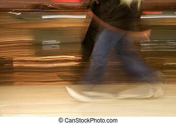 People Walking - A motion blur abstract of a people walking...