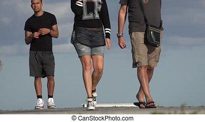 People Walking in Public Park