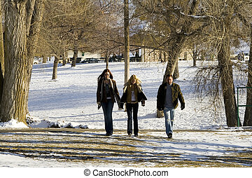 People walking in the Park