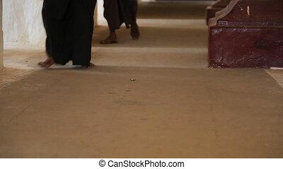 People walking Inside temple in Bag