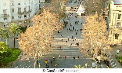 People walking on the street Barcel