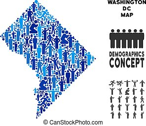 People Washington DC Map