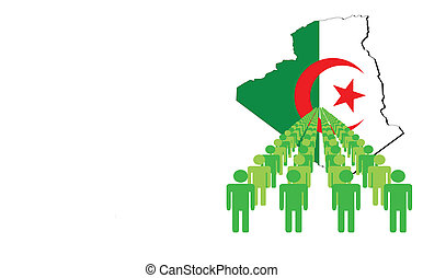 people with Algeria map flag