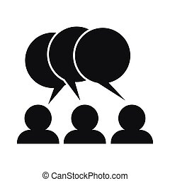 People with dialog speech bubbles icon
