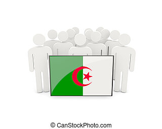 People with flag of algeria