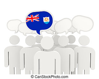 People with flag of anguilla