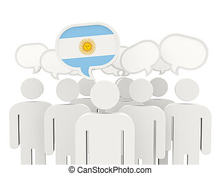 People with flag of argentina