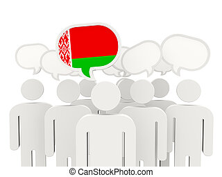 People with flag of belarus