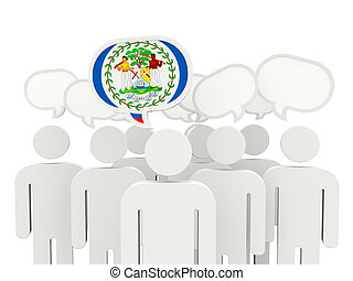 People with flag of belize