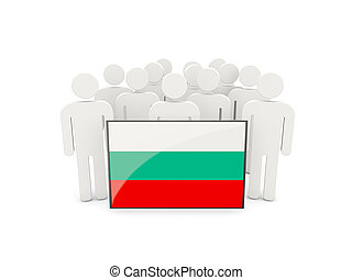 People with flag of bulgaria