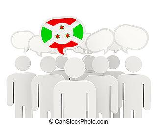 People with flag of burundi