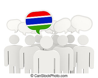People with flag of gambia