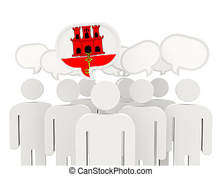 People with flag of gibraltar