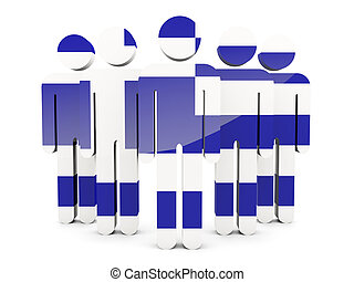 People with flag of greece