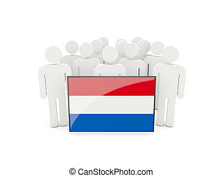 People with flag of netherlands